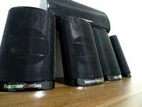 5 x HARMAN KARDON HKTS-7/9 LAUTSPRECHER/SATELITTEN BLACK / TOP ! #W7