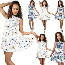 Unbranded Collar Floral Sleeveless Dresses for Women