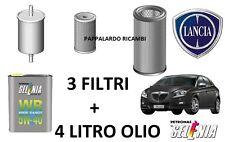 KIT TAGLIANDO 3 FILTRI + 4 LT OLIO LANCIA DELTA 1.6 Multijet Diesel  (2008-2015)