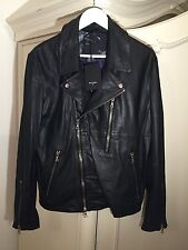 Paul Smith PS Men's Black Leather Biker Jacket Size L Brand NEW WITH TAGS!