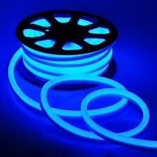 50FT LED Neon Rope Lights Flexible Tube Sign Decorative Party Outdoor Home Blue