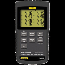 General Tools DT4208SD Data Logging 12 Channel Thermometer with SD Card