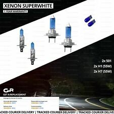 For Vauxhall Insignia 08-16 Side/Low/High Beam 501 H7 H1 Xenon Headlight Bulbs