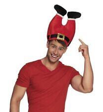 Mens Santa Claus Pants Father Christmas Xmas Novelty Fancy Dress Accessory Hat