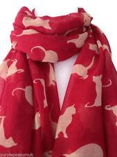 Cat Scarf Ref Beige Cream Cats Shawl Sarong Ladies Animal Print Wrap New