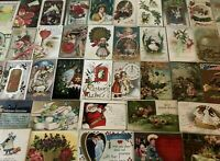 Lot of 100 Holiday Greetings Post Cards, Christmas, Easter, Thanksgiving,etc.-40