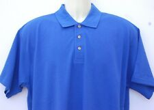 Russell Jerzees  Mens  Gents Plain Cotton Polo Top Golf Sports Shirt Blue Large