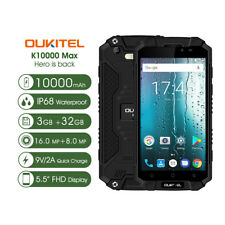 Outdoor Smartphone IP68 5.5'' Oukitel K10000 Max 10000mAh 4G 8Core 16MP 32GB GPS