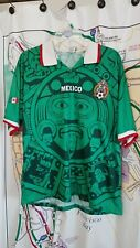 Vintage Authentic Mexico 1998 World Cup XL Jersey ABA Sports Green Soccer Aztec