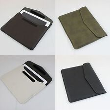 "12"" Slimline iPad ipad 2 3 Leather Carrying Case Carry Bag Proctector Cover Tote"