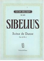 Sibelius: Scene De Danse Für Violine E Klavier Op.116 N.1 - Breitkopf