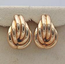 18K Gold Filled Earrings Irregularity Delicacy Ear Hoop Lady Cocktail Jewelry SW