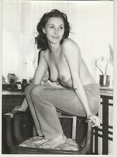 Smiling Topless Woman On Chair (Vintage Real Photo: East Germany 60s/70s)