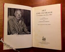 """Henry Miller """"Art & Outrage"""" First Edition in Dust Jacket"""