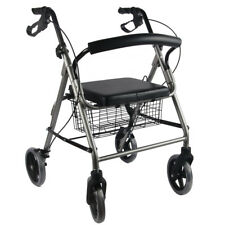 Titanium Aluminum Foldable Rollator Walking Frame Outdoor Walker AIDS Mobility