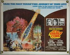 AT THE EARTH'S CORE ROLLED ORIG HALF-SHEET MOVIE POSTER DOUG MCCLURE (1976)