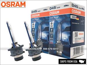 D4S OSRAM 6000K Cool Blue Advance HID Xenon bulbs 66440CBA w/TRUST CODE Germany