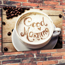 """Good Morning Coffee Printed canvas Picture a1.30""""x20"""" 30 mm Deep Home Decor CAFE"""