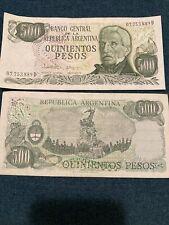BANK NOTE- BANCO CENTRAL DE LA REPUBLICA ARGENTINA  500 NOTE Lot Of 35
