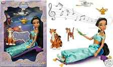 PRINCESS JASMINE DELUXE SINGING DOLL SET DISNEY STORE ALADDIN FREE PRIORITY SHIP