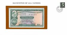 HONG KONG - ENVELOPPE TIMBRÉE ET BILLET 10 DOLLARS 31-3-1978 - NEUF