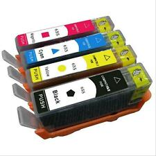 4PK 655 Ink Cartridge For HP 655 Deskjet Advantage 3525 4615 4625 5525 6520 6525