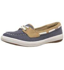 Keds Women's Glimmer Nautical Stripe Fashion Sneaker Navy WF57107  6 M New