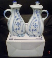 Blue And White German Made Oil And Vinegarette Condiment Jugs