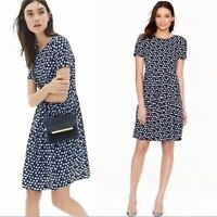 J. Crew blurred floral tiered dress blue size 0 womens fit & flare cap sleeve XS