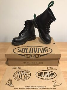 NPS SOLOVAIR Black Shine Leather 8 Eye Derby Boot! SizeUK6.5! New!Only