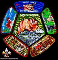SAMOSET COUNCIL WI TOM-KITA-CHARA OA 96 FLAP 2017 BSA JAMBOREE 6-PATCH 400 MADE