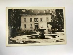 Bowers Mansion Carson City Nevada NV RPPC Postcard