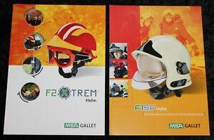 MSA GALLET , zwei ältere Helm Werbe Klapp Prospekte