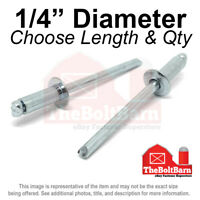 "RIVETS 1//8/"" x1//2/"" ALUMINUM HEAD STEEL MANDREL RIVET 150 pc."