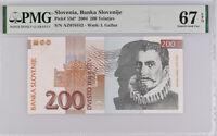 Slovenia 200 Tolarjev 2004 P 15 d* Replacement Superb GEM UNC PMG 67 EPQ Top Pop