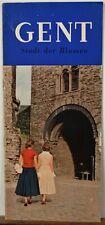 1950's 60's Gent Belgien Belgium vintage travel brochure map b