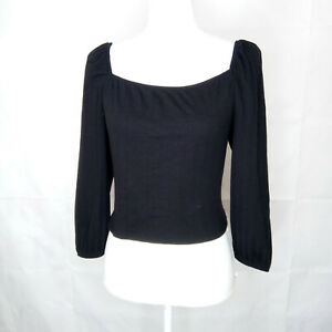 Wild Fable Square Neck Blouse Women Size M 3/4 Sleeve