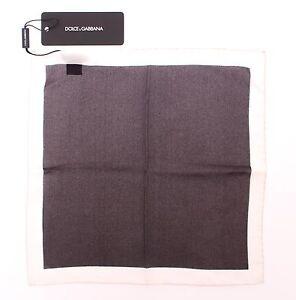 NEW DOLCE & GABBANA Handkerchief Brown Silk Pochette Square Pocket 30cm x 30cm