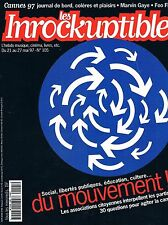 Les Inrockuptibles   N°105  -  21 mai 1997 - Associations Cannes 97 - Marvin Gay