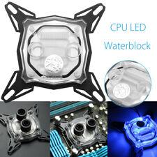 LED CPU WATER BLOCK ACRILICO RAFFREDDAMENTO A LIQIUDO ACQUA BLOCCO PER INTEL
