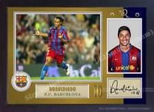Autógrafo De Ronaldinho Barcelona firmado foto cartel impresión enmarcado