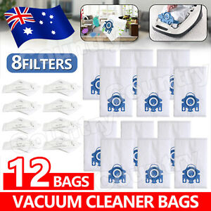 12x Vacuum Cleaner Bags For Miele 3D GN COMPLETE C2 C3 S2 S5 S8 S5211 Models