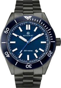 Accurist Signature Mens Blue Dial 200M WR Divers Watch 7272