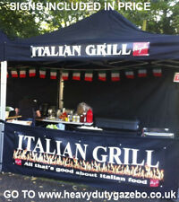 More details for trade gazebo® commercial market stall pop up heavy duty catering kiosk + signs