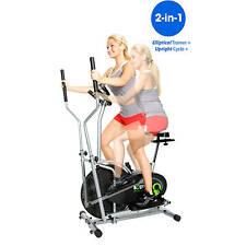 Upright Exercise Bike Elliptical Fitness Machine Equipment Cardio Workout Gym