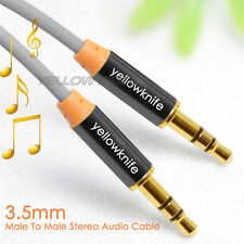 "3ft Gold 1/8"" 3.5mm M/M Stereo Audio AUX Headphone Cable Cord MP3 Aux PC iPhone"