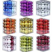 24Pcs Glitter Christmas Balls Baubles Xmas Tree Hanging Ornament Christmas Decor