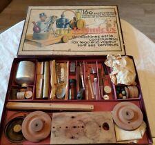 ANTIQUE TECHNICUS SCIENCE EXPERIMENTS CHILDREN'S TOY ORIGINAL BOX. 75+ PIECES