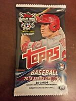 2018 Topps Series 1 Baseball Factory Sealed Hobby Pack - 10 Cards