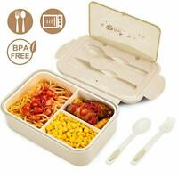 BIBURY Lunch Box, Leakproof Bento Box for Kids Adults, Food Container with 3